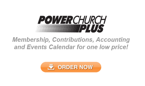 PowerChurch Plus - All in one Church Management Software that includes Membership, Contributions, Accounting, Events Calendar, and more!
