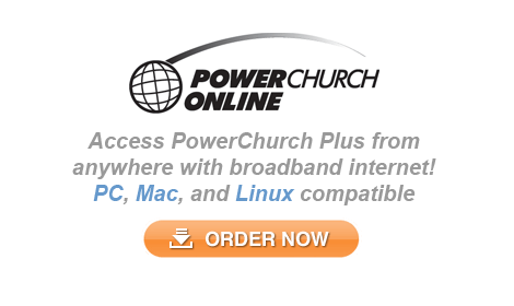 PowerChurch Online is our Online Church Management Software for Windows, Mac, and Linux